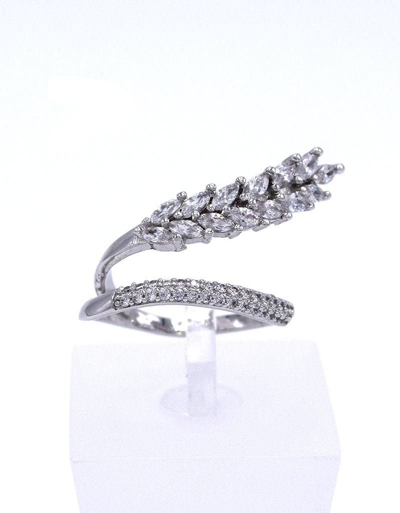 Rhodium ring met zirkonia