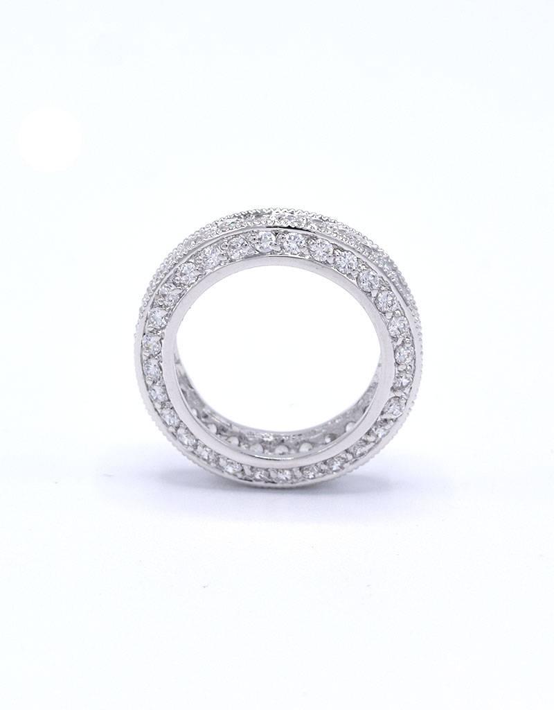Rhodium ring met zirkonia