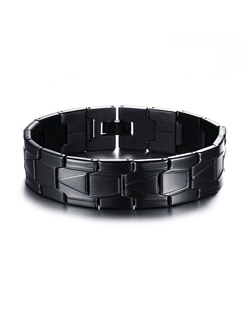 Zwarte schakel armband