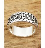 Zilveren mantra ring