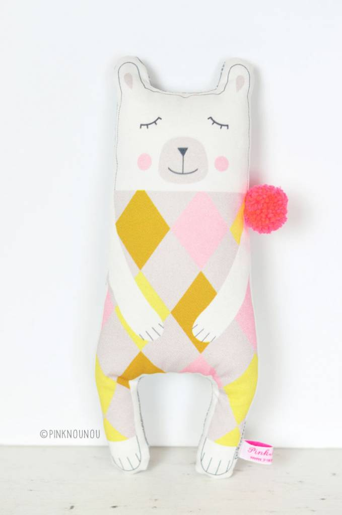 PinkNounou Ms Pom Pom Polar Bear knuffel