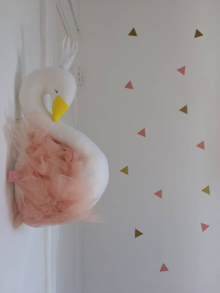 Ilka Handmade Sleepy Swan on the wall