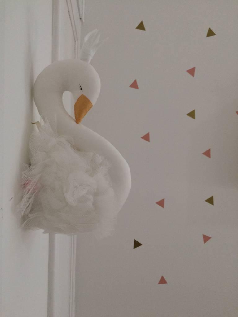 Ilka Handmade Sleepy Flamingo op de muur