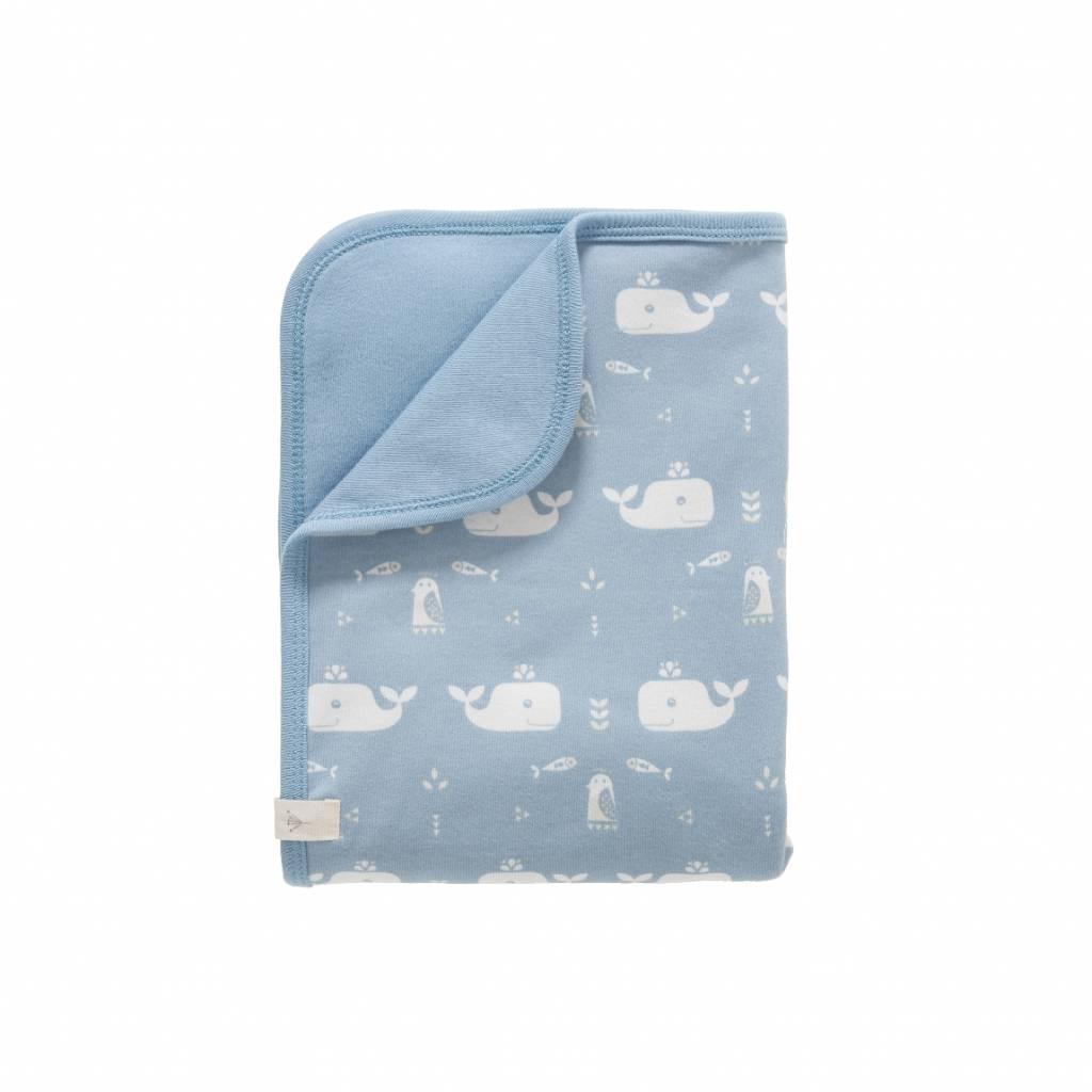 Fresk Baby deken Whale blue fog