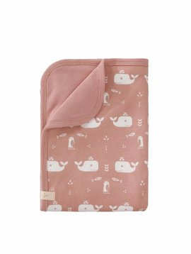Fresk Baby blanket Whale mellow rose