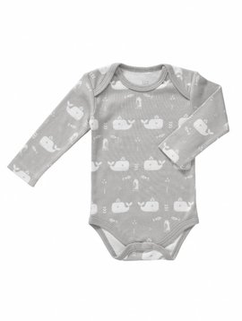 Fresk Romper long sleeve Whale dawn grey