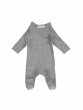 MarMar Copenhagen Rubetta modal new born jumpsuit –grey mélange
