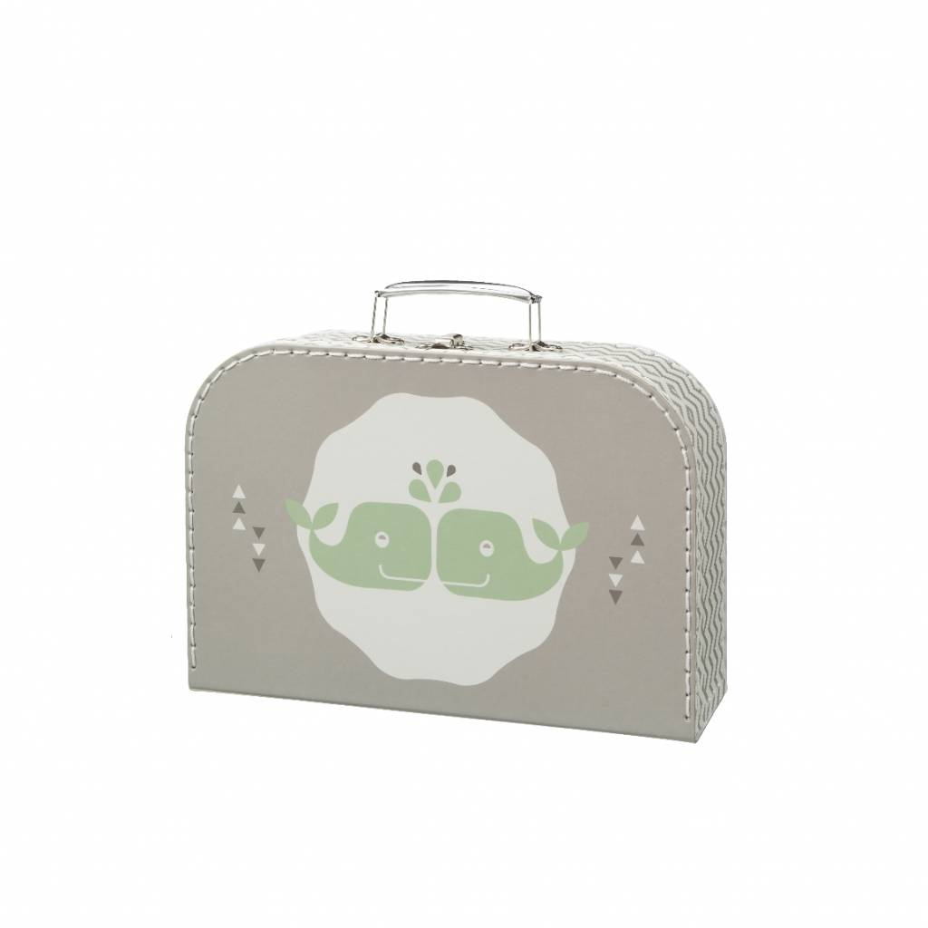 Fresk Little Suitcase Whale grey large
