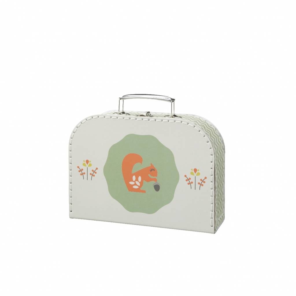 Fresk Suitcase Squirrel forest green small