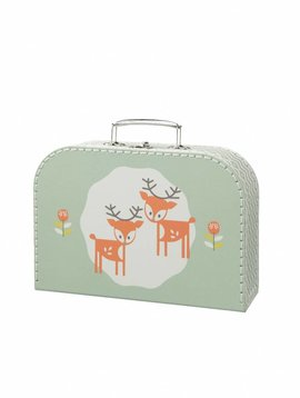 Fresk Suitcase Deer forest green groot