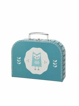 Fresk Koffertje Owl blue klein