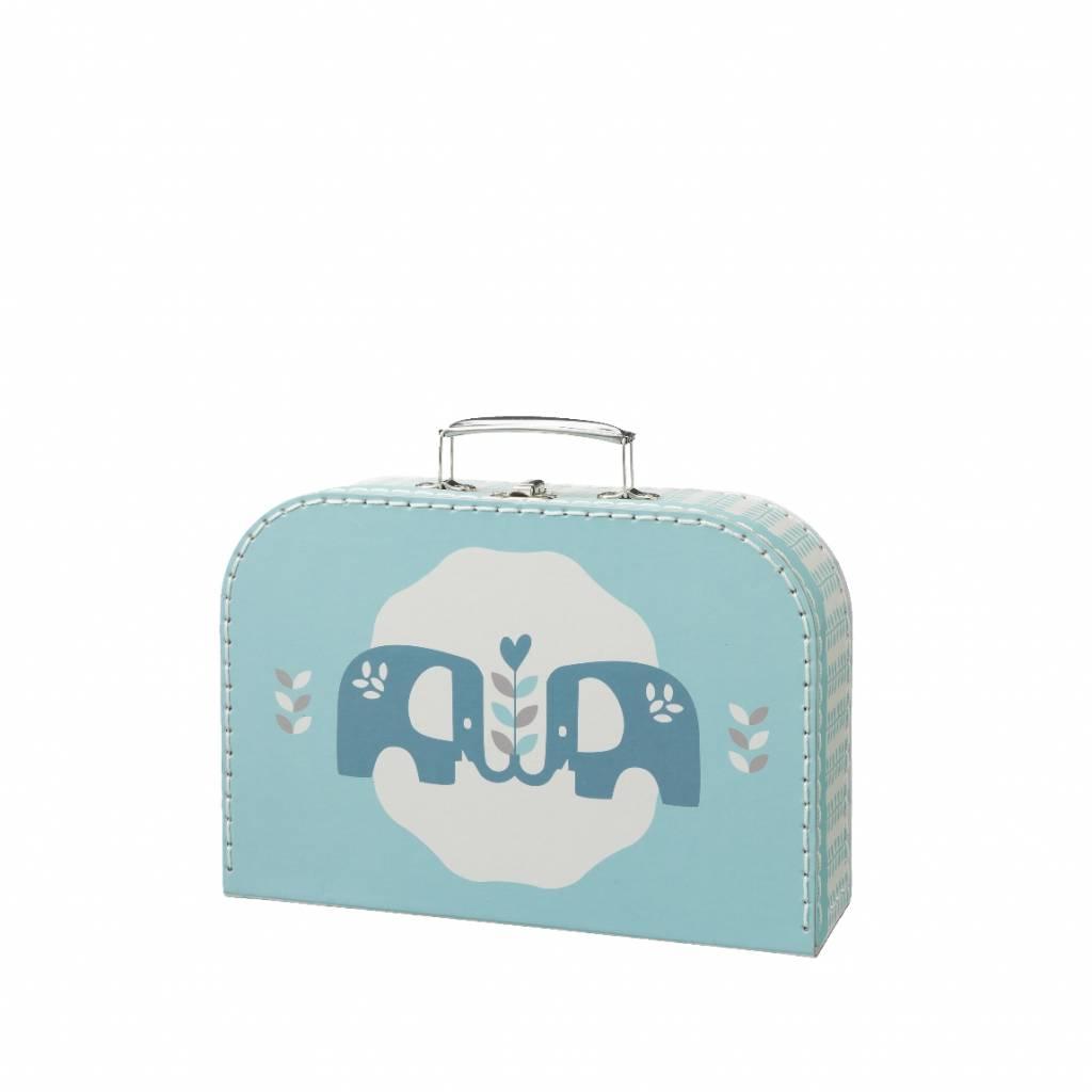 Fresk Suitcase Elefant blue large