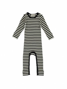 MarMar Copenhagen stripes jumpsuit zwart-wit / caviar-off white