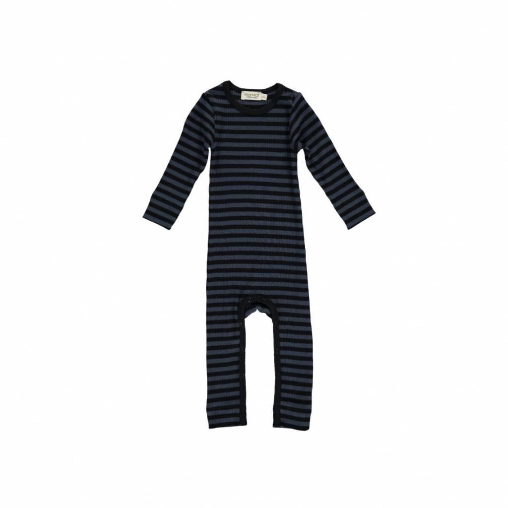 MarMar Copenhagen Stripes Jumpsuit black-blue / ombre-blue