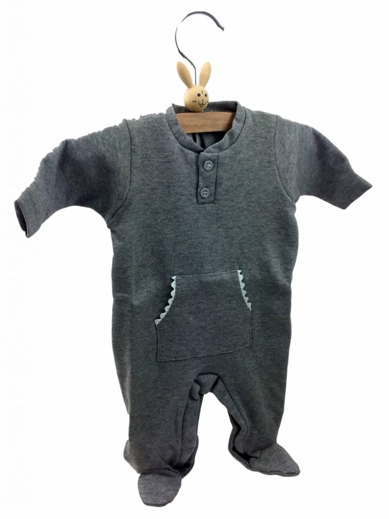 Babidu Babysuit flags - grey