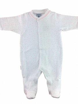 Babidu Babysuit stars - white and pink