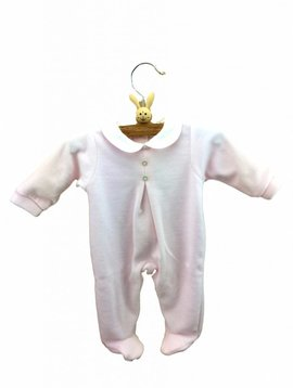 Babidu Babysuit with collar - pink