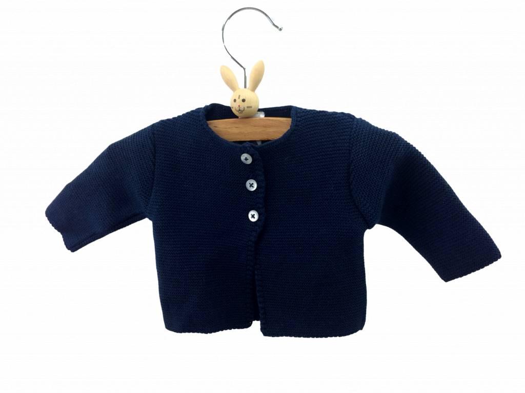 Babidu Baby vestje – donkerblauw