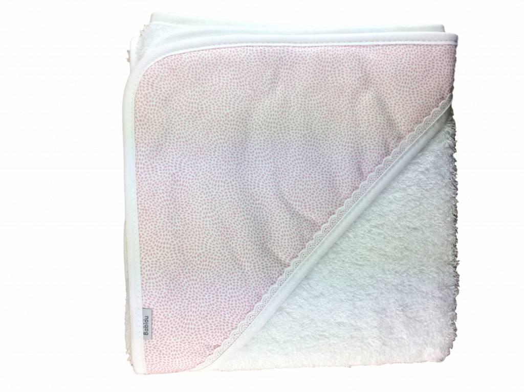Babidu Baby badcape - roze