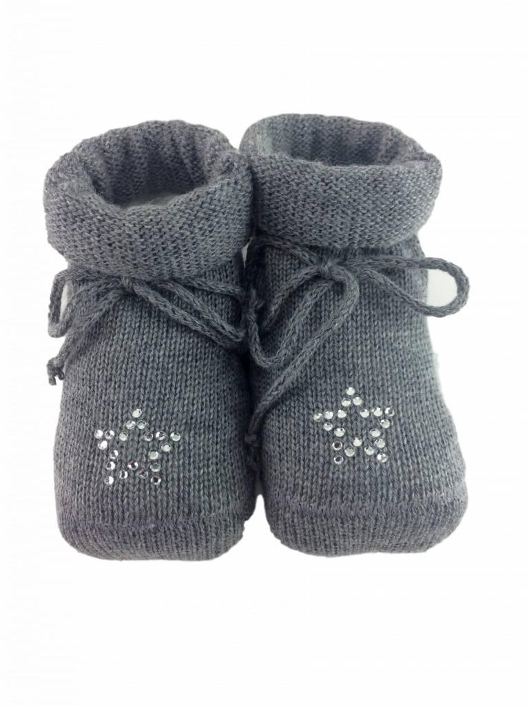 Paolo Romboli Babyslofjes met sterretje – grijs