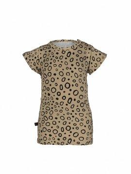 nOeser T-shirt zandkleur met zwarte cirkels