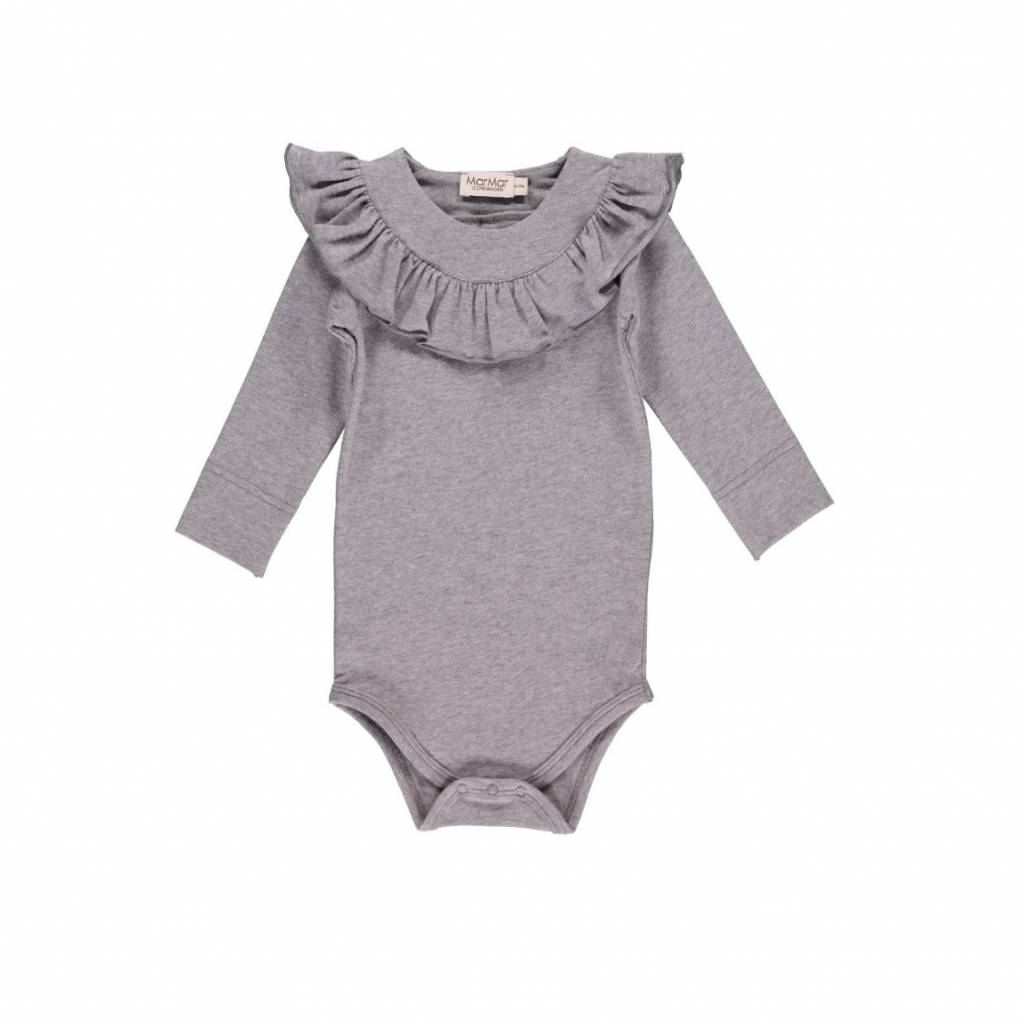 MarMar Copenhagen Body with ruffles - grey