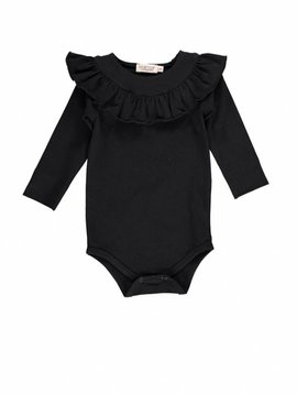 MarMar Copenhagen Body with ruffles - black