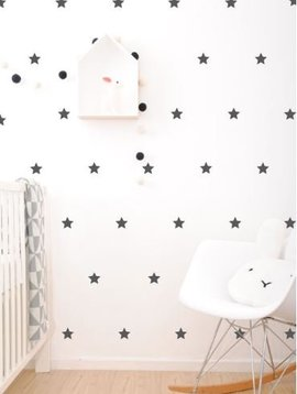 Wall stickers - star black