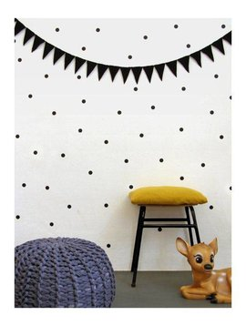 Wall stickers dots - black