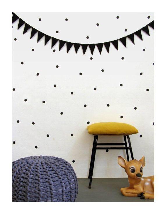 Wall stickers dots - black