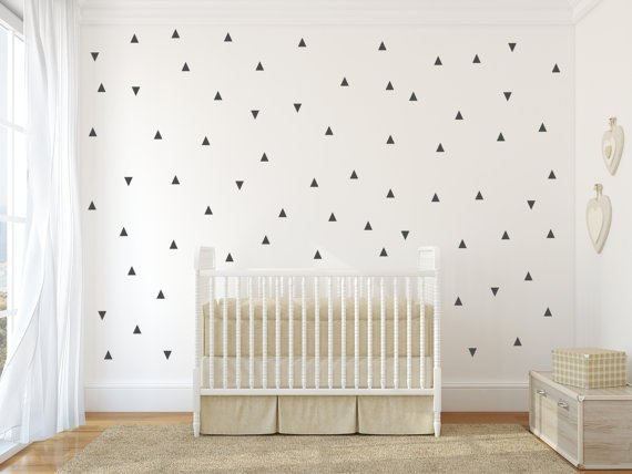 Wall stickers triangle - black