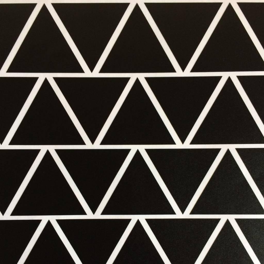 Muurstickers  driehoek - zwart