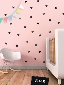 Wall stickers hearts - black