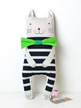PinkNounou Bow Tie Cat knuffel