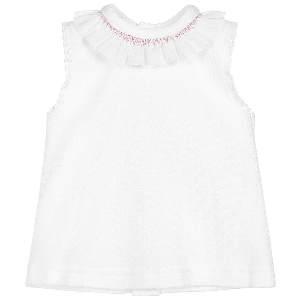 Babidu Short baby dress with collar and bloomer