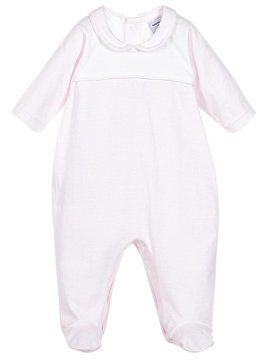 Babidu Babysuit pink white stripes