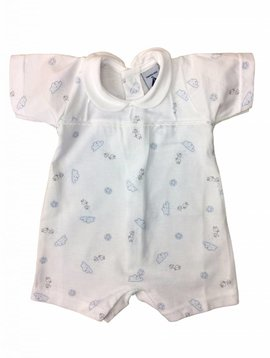 Babidu Zomers babypakje met wolkjes - blauw