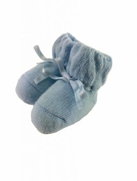 Paolo Romboli Baby booties with bow – blue