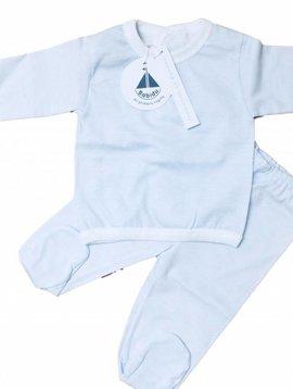 Babidu Babyset - blauw wit gestreept