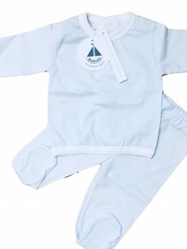 Babidu Babyset - blue white stripes