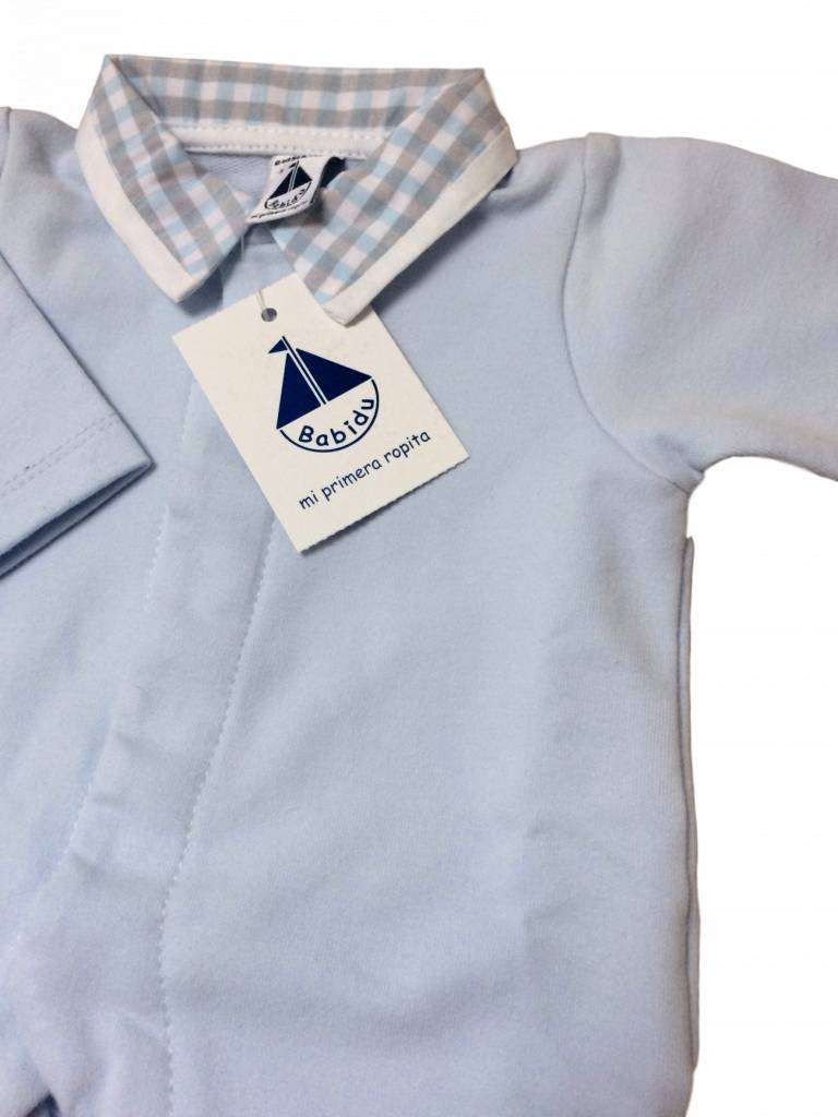Babidu Babysuit blue with collar