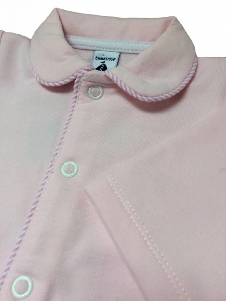 Babidu Babysuit with striped pockets - pink