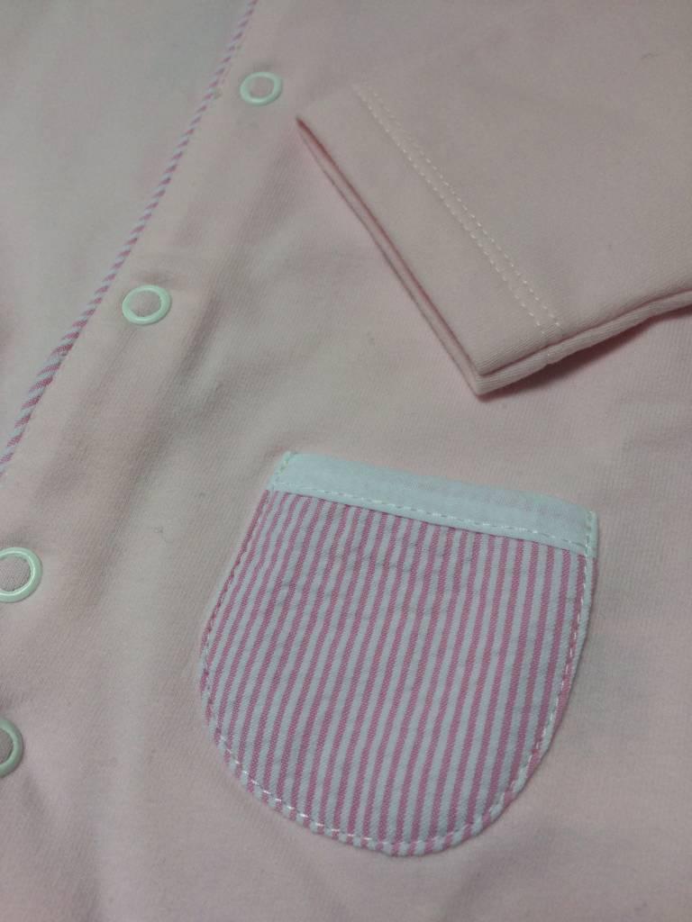 Babidu Roze babypakje met gestreepte zakjes