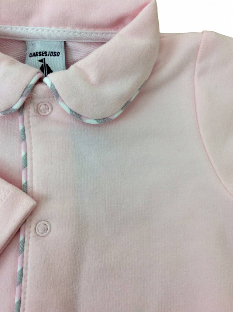 Babidu Babysuit pink with collar