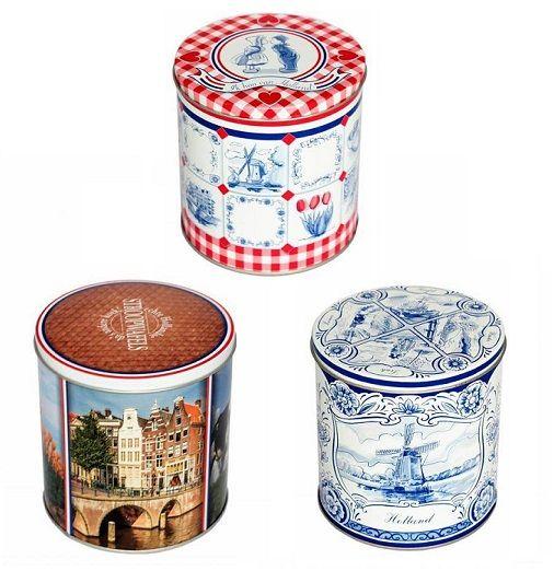 Dutch Original Tripple Stroopwafel Tins Set (3)