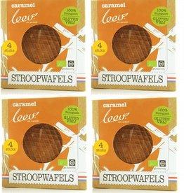Biologische glutenvrije caramel stroopwafels