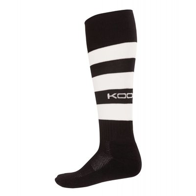 Kooga Rugbysock hooped red/white, black/white