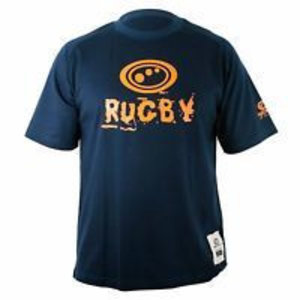 Optimum Rugby T-shirt blauw/oranje