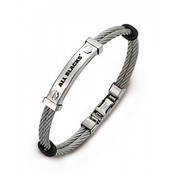 All Blacks All Blacks Armband Rope zilver