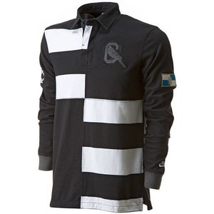 nike Old School Rugby shirt zwart/wit banner